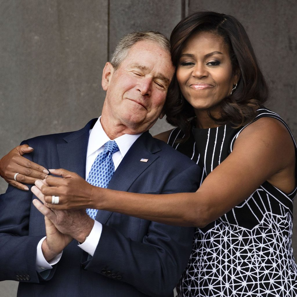 michelle-obama-george-bush